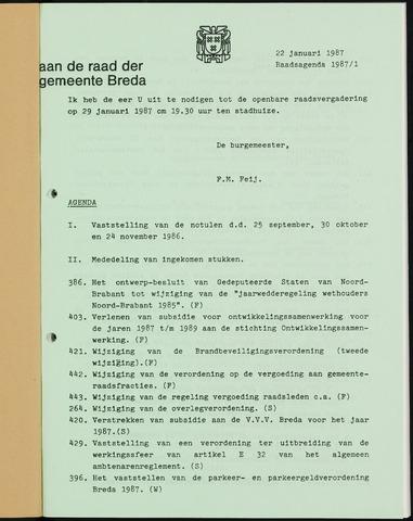 Breda - Bijlagen bij de notulen van de gemeenteraad 1987-01-01