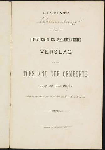 Princenhage - Verslagen van de toestand van de gemeente 1895-01-01
