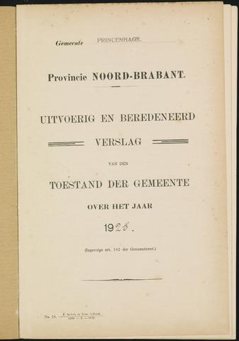 Princenhage - Verslagen van de toestand van de gemeente 1925
