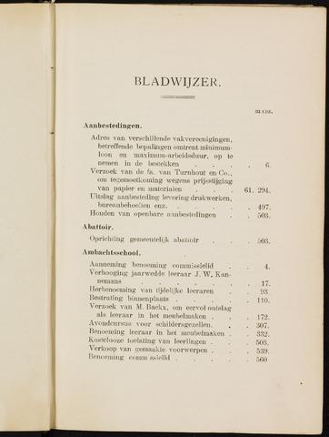 Breda - Indexen op de notulen van de gemeenteraad 1916-01-01