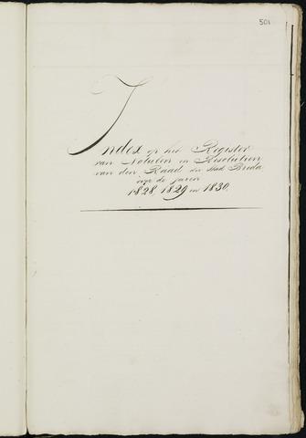 Breda - Indexen op de notulen van de gemeenteraad 1828-01-01