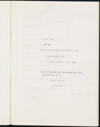 Ginneken en Bavel - Verslagen van de toestand van de gemeente 1909