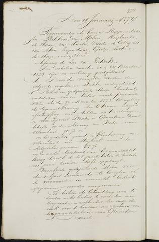 Breda - Notulen van de gemeenteraad 1874