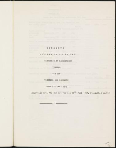 Ginneken en Bavel - Verslagen van de toestand van de gemeente 1913-01-01