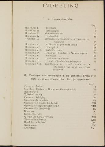 Breda - Verslagen van de toestand van de gemeente 1928