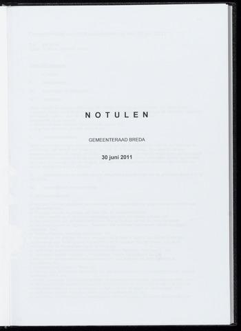 Breda - Notulen van de gemeenteraad 2011-06-30
