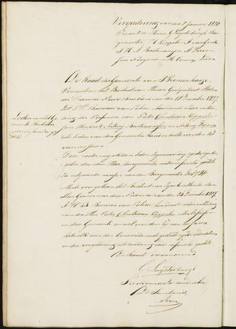 Princenhage - Notulen van de gemeenteraad 1828-01-01