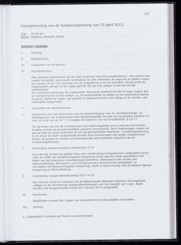 Breda - Notulen van de gemeenteraad 2013-04-15