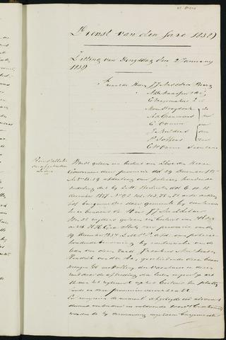 Ginneken en Bavel - Notulen van de gemeenteraad 1838-01-01