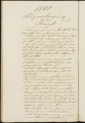 Teteringen - Notulen en bijlagen van de gemeenteraad 1868