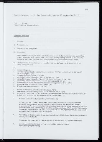 Breda - Notulen van de gemeenteraad 2010-09-30