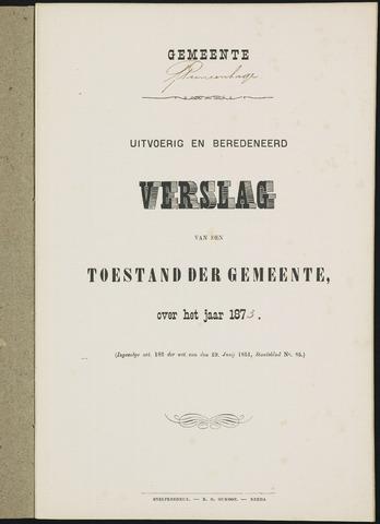 Princenhage - Verslagen van de toestand van de gemeente 1873-01-01