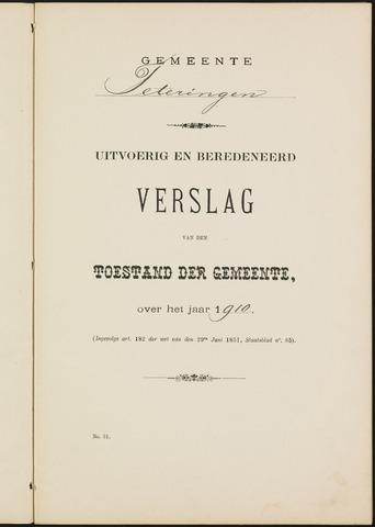 Teteringen - Verslagen van de toestand van de gemeente 1910