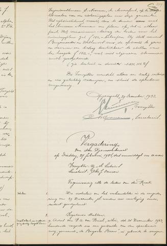Teteringen - Notulen en bijlagen van de gemeenteraad 1934