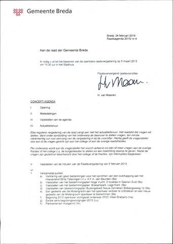 Breda - Bijlagen bij de notulen van de gemeenteraad 2015-03-05