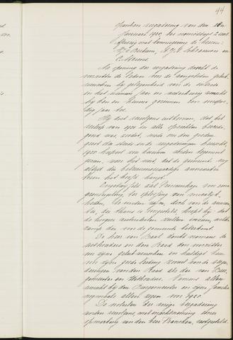 Princenhage - Notulen van de gemeenteraad 1925