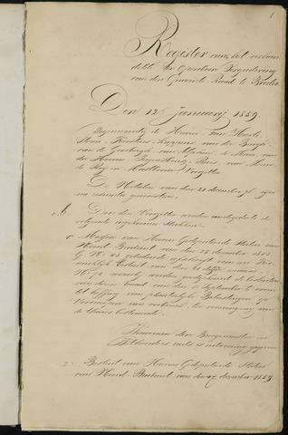 Breda - Notulen van de gemeenteraad 1859-01-01