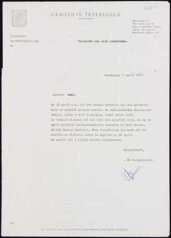 Teteringen - Notulen en bijlagen van de gemeenteraad 1977-04-26