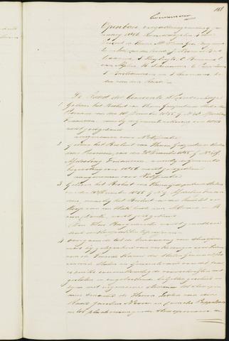 Princenhage - Notulen van de gemeenteraad 1856