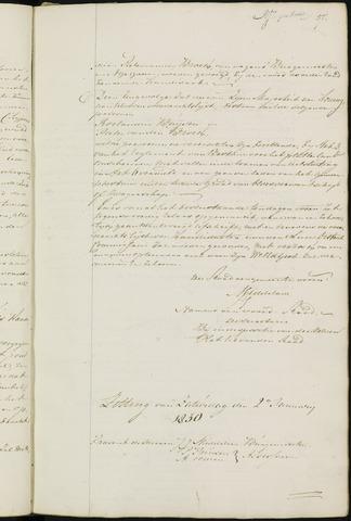 Ginneken en Bavel - Notulen van de gemeenteraad 1830-01-01