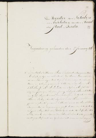 Breda - Notulen van de gemeenteraad 1816