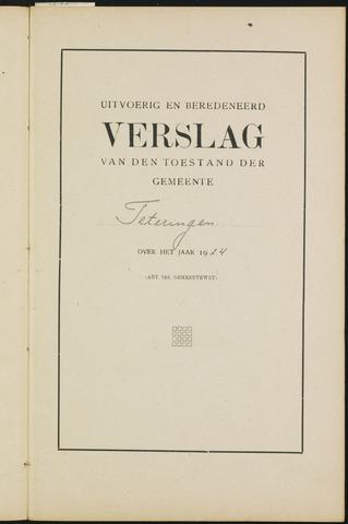 Teteringen - Verslagen van de toestand van de gemeente 1924