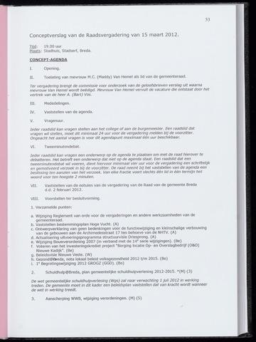 Breda - Notulen van de gemeenteraad 2012-03-15