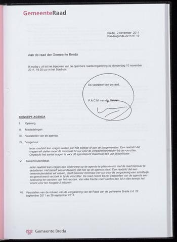 Breda - Bijlagen bij de notulen van de gemeenteraad 2011-11-10