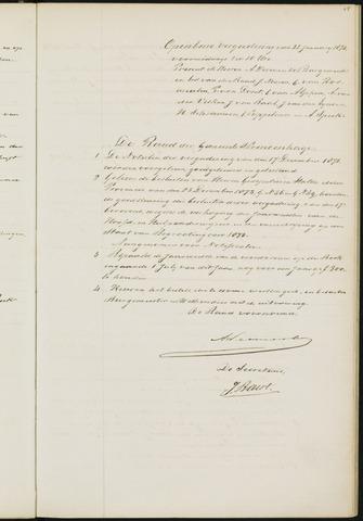 Princenhage - Notulen van de gemeenteraad 1874-01-01