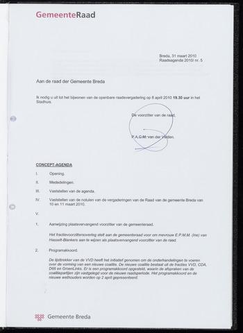 Breda - Bijlagen bij de notulen van de gemeenteraad 2010-04-08
