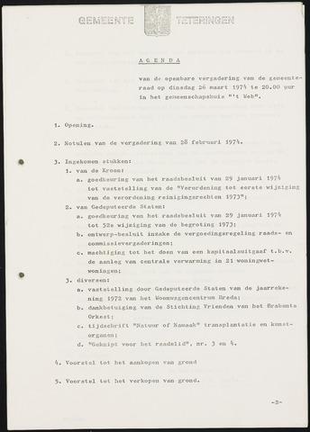 Teteringen - Notulen en bijlagen van de gemeenteraad 1974-03-26