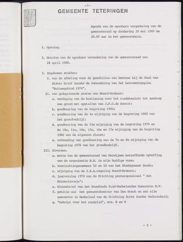 Teteringen - Notulen en bijlagen van de gemeenteraad 1980-05-29