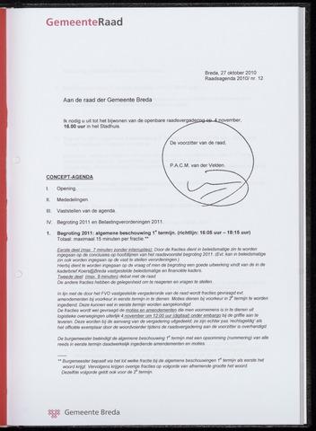 Breda - Bijlagen bij de notulen van de gemeenteraad 2010-11-04