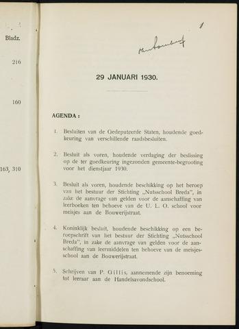 Breda - Notulen van de gemeenteraad 1930-01-01