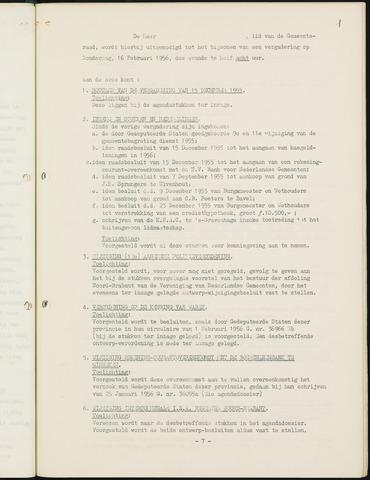 Nieuw-Ginneken - Notulen en bijlagen van de gemeenteraad 1956