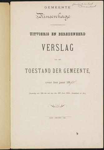 Princenhage - Verslagen van de toestand van de gemeente 1890