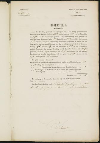 Teteringen - Verslagen van de toestand van de gemeente 1858