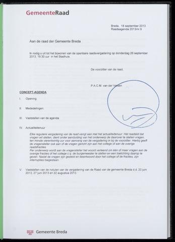 Breda - Bijlagen bij de notulen van de gemeenteraad 2013-09-26