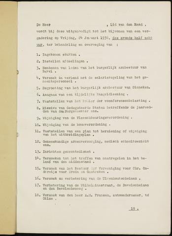 Ginneken en Bavel - Bijlagen bij de notulen van de gemeenteraad 1936-01-01