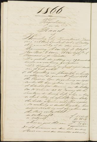 Teteringen - Notulen en bijlagen van de gemeenteraad 1866