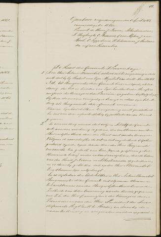 Princenhage - Notulen van de gemeenteraad 1863