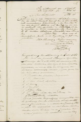 Teteringen - Notulen en bijlagen van de gemeenteraad 1845
