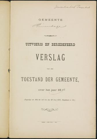 Princenhage - Verslagen van de toestand van de gemeente 1892-01-01