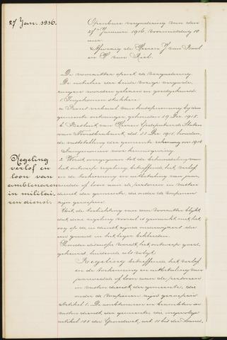 Princenhage - Notulen van de gemeenteraad 1916