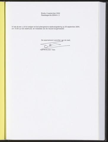 Breda - Bijlagen bij de notulen van de gemeenteraad 2004-09-06
