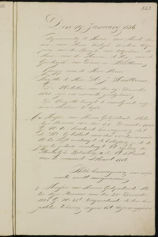 Breda - Notulen van de gemeenteraad 1856-01-01