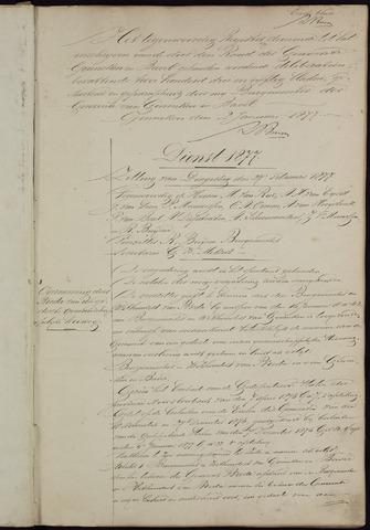 Ginneken en Bavel - Notulen van de gemeenteraad 1877-01-01