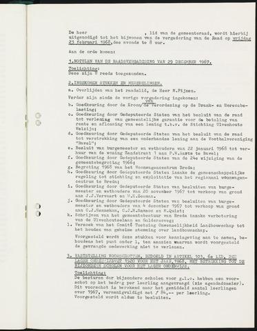 Nieuw-Ginneken - Notulen en bijlagen van de gemeenteraad 1968