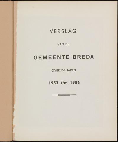 Breda - Verslagen van de toestand van de gemeente 1953