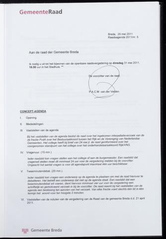 Breda - Bijlagen bij de notulen van de gemeenteraad 2011-05-31